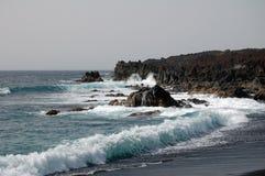 Берег моря в Лансароте Испании Стоковое фото RF