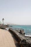 Берег моря в Лансароте Испании Стоковые Изображения RF