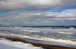 Берег моря зимы Стоковое Фото