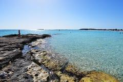 Берег моря пляжа Стоковое Фото