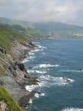 Берег моря северной Испании Стоковая Фотография