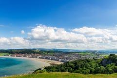 Берег моря Llandudno в северном Уэльсе, Великобритании стоковые изображения
