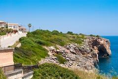 берег моря porto cristo среднеземноморской утесистый Стоковые Изображения RF