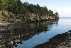 берег национального парка островов залива утесистый Стоковое Изображение RF