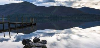 Берег озера, вода Derwent Стоковая Фотография RF