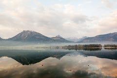 Берег озера в Европе Стоковые Фото