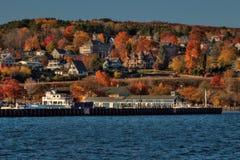 Берег озера остров апостола национальный популярное туристское назначение на Lake Superior в Висконсине стоковое фото