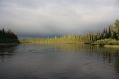Берег озера перед штормом Стоковая Фотография RF