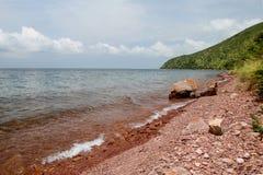 Берег озера Танганьик в городе Kigoma, Танзании Стоковое Изображение