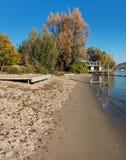 Берег озера Цюриха в осени Стоковые Фото