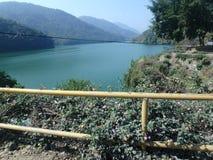 Берег озера Pokhara стоковая фотография