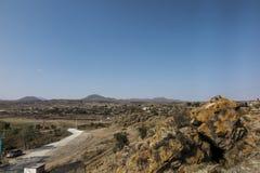 Берег озера Sevan в районе монастыря Sevanavank Стоковая Фотография RF