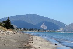 Берег побережья Kapiti, северный остров, Новая Зеландия стоковые изображения rf