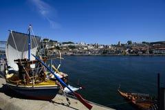 Берег реки в Порту, Португалии Стоковое Изображение RF
