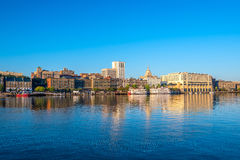 Берег реки городской саванны в Georgia Стоковая Фотография RF