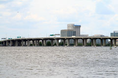 Берег реки Джексонвилл Флорида Стоковое Фото