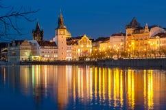 Берег реки 3 Праги, чехия Стоковые Фото