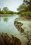 берег реки скалы Стоковая Фотография