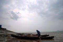 берег реки Стоковое фото RF