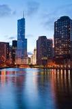 берег реки chicago Стоковые Фотографии RF