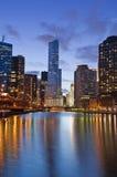 берег реки chicago Стоковая Фотография RF
