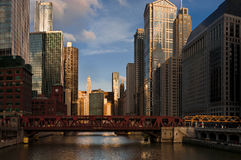 берег реки chicago Стоковые Изображения RF