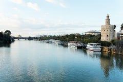 берег реки seville Стоковая Фотография