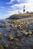 берег светлого montauk утесистый Стоковые Изображения