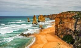 Берег Тихого океана большая дорога океана апостолы 12 Стоковое Изображение RF