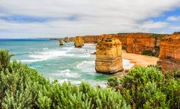 Берег Тихого океана большая дорога океана апостолы 12 Стоковые Изображения