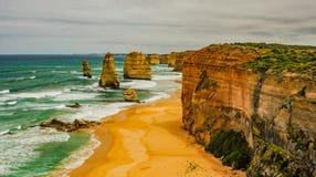 Берег Тихого океана большая дорога океана апостолы 12 Стоковое Изображение