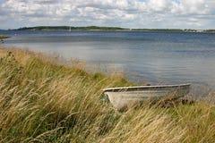берег шлюпки Стоковая Фотография