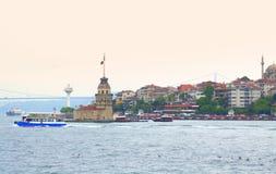 Берег Bosphorus, Стамбул Стоковые Фото