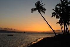 Берег Lahaina на заходе солнца Стоковая Фотография RF