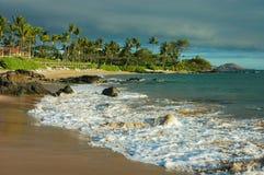 берег maui после полудня южный Стоковые Изображения RF