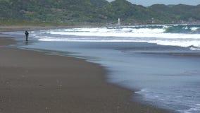 Берег Mishima на полуострове Boso в префектуре Chiba сток-видео