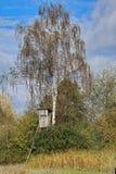 Береза с охотничьим домиком Стоковая Фотография RF