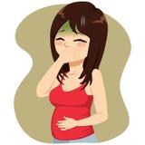 Беременная болезнь утра Стоковое Изображение RF