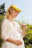 беременная женщина бабочки Стоковые Фото