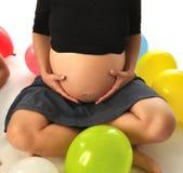 беременная женщина живота Стоковая Фотография RF