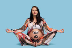 беременная женщина картины живота Стоковые Фото