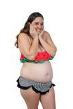 Беременная женщина 23 недель (10) Стоковое Изображение RF