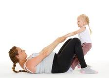 беременная женщина дочи Фитнес Стоковые Фото