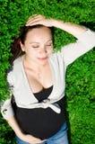 беременная женщина природы стоковая фотография