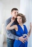 беременная женщина супруга Пара Стоковое Фото