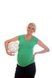 беременная женщина шарика Стоковое Изображение RF