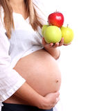 беременная женщина яблок Стоковые Изображения