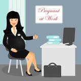 Беременная на работе 2 иллюстрация штока
