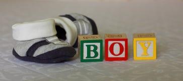 Беременность - блоки младенца и ботинки младенца Стоковое Изображение RF