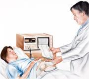 Беременность - фетальный контроль Стоковая Фотография